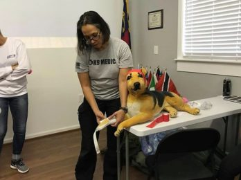 Pet first aid class for students