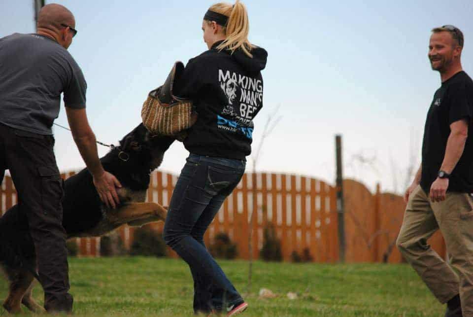 manda ballard at school for dog trainers bitework